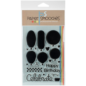 """Let's Celebrate - Paper Smooches Clear Stamps 4""""X6"""""""