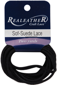 "Gothic Black - Sof-Suede Lace .094""X2yd Packaged"