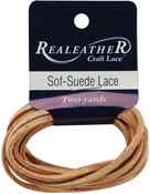 "Beige - Sof-Suede Lace .094""X2yd Packaged"