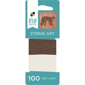 Brown/Cream - String Art String 100yds