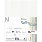 "4 Colors/6 Each - Neenah Metallic Cardstock 8.5""X11"" 24/Pkg"