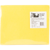 "Sunny Yellow - Student Project Folders 9.5""X11.75""X3.5"" 5/Pkg"
