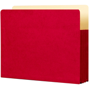 "Ruby Red - Student Project Folders 9.5""X14.75""X3.5"" 5/Pkg"