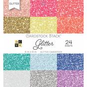 "Glitter, 12 Designs/2 Each - DCWV Cardstock Stack 6""X6"" 24/Pkg"