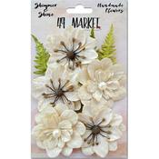 Ivory Jardin Secret - Shimmer & Shine Flowers Assorted Sizes 9/Pkg