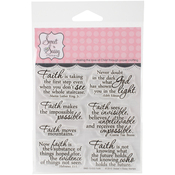 """Faith - Sweet 'n Sassy Clear Stamps 4""""X4"""""""