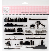 "Landscape Silhouettes - Sweet 'n Sassy Clear Stamps 6""X8"""