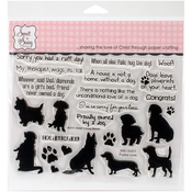 """Puppy Love - Sweet 'n Sassy Clear Stamps 6""""X8"""""""
