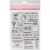 """Get Well Critters - Sweet 'n Sassy Clear Stamps 6""""X8"""""""