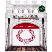 Regal Lace/Red - Chainmaille Bracelet Jewelry Kit