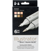Portrait - Spectrum Noir Illustrator Twin Tip Markers 6/Pkg
