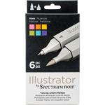 Hues - Spectrum Noir Illustrator Twin Tip Markers 6/Pkg