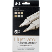 Neutrals - Spectrum Noir Illustrator Twin Tip Markers 6/Pkg