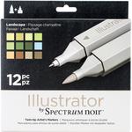 Landscape - Spectrum Noir Illustrator Twin Tip Markers 12/Pkg
