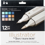 Seascape - Spectrum Noir Illustrator Twin Tip Markers 12/Pkg