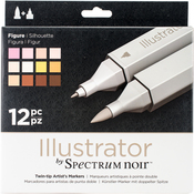 Figure - Spectrum Noir Illustrator Twin Tip Markers 12/Pkg