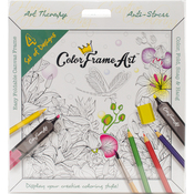 White Happy Home - Adult Coloring Foldable Canvas Frame Assortment 4/Pkg