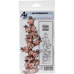 """Reindeer - Art Impressions Stackers Cling Rubber Stamp Set 7""""X4"""""""