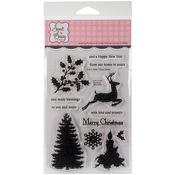 """Christmas Silhouettes - Sweet 'n Sassy Clear Stamps 4""""X6"""""""