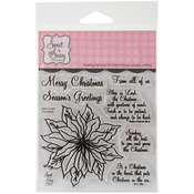 """Poinsettias - Sweet 'n Sassy Clear Stamps 4""""X4"""""""