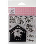 """Season Of Love - Sweet 'n Sassy Clear Stamps 4""""X4"""""""