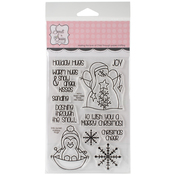 """Holiday Hugs - Sweet 'n Sassy Clear Stamps 4""""X6"""""""