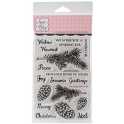 """Christmas Pine - Sweet 'n Sassy Clear Stamps 4""""X6"""""""