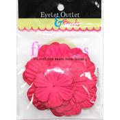 Red207 - Eyelet Outlet Flowers 40/Pkg