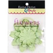Green367 - Eyelet Outlet Flowers 40/Pkg