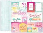 Summer Lights Paper 1 - Pink Paislee
