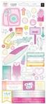 Summer Lights Cardstock Stickers - Pink Paislee