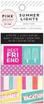 Summer Lights Mini Washi Tape - Pink Paislee