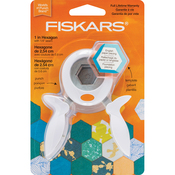 "1"" Hexagon - Fiskars Squeeze Punch And Acrylic Template"