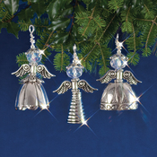 Vintage Angels Makes 3 - Holiday Beaded Ornament Kit