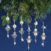 Dangling Angels Makes 6 - Holiday Beaded Ornament Kit