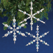 Sparkling Snowflakes Makes 3 - Holiday Beaded Ornament Kit