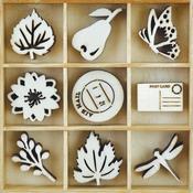 Harvest Themed Mini Wooden Flourishes 45/Pkg - KaiserCraft