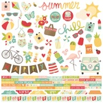 Summer Days Combo Stickers - Simple Stories