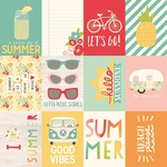 Journaling Card Elements 3 x 4 Paper - Summer Days - Simple Storeis