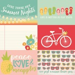 Horizontal Elements 4 x 6 Paper - Summer Days - Simple Storeis