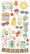 Summer Days Chipboard Stickers - Simple Stories