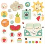 Summer Days Decorative Brads - Simple Stories