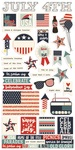 All American Sticker Sheet - Simple Stories