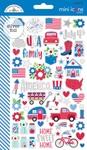 Yankee Doodle Mini Icon Stickers - Doodlebug