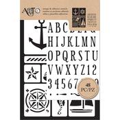 Nautical - Art-C Stencil & Clear Stamp
