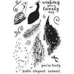 """Color Layering Peacock - Hero Arts Clear Stamps 4""""X6"""""""