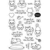 "Purr - Hero Arts Clear Stamps 4""X6"""