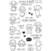 "Woof - Hero Arts Clear Stamps 4""X6"""