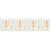 Gold Hot Air Balloon - Little B Decorative Foil Tape 25mmX10m