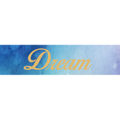 Gold Love, Dream, Hope - Little B Decorative Foil Tape 25mmX10m